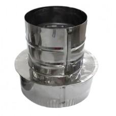 Переход 130х80 AISI 430 нержавеющая сталь 0,5 мм