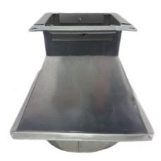Переход 150х150/ф100 из оцинкованной стали