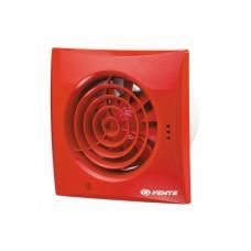100 Квайт (Vents 100 Quiet) красный осевой накладной вентилятор с о/клапаном