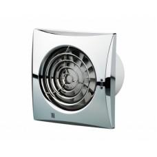 100 Квайт (Vents 100 Quiet) хром осевой накладной вентилятор с о/клапаном