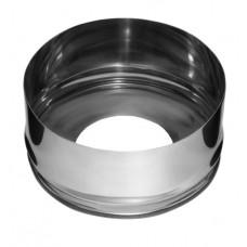 Заглушка с отверстием 080/160 Феррум из нержавеющей стали 0.5 мм.