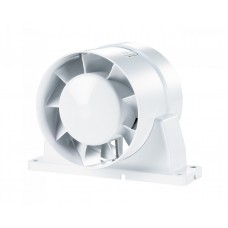100 ВКОк Турбо Бытовой вентилятор канальный осевой на кронштейне