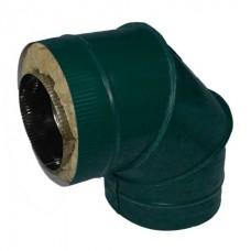 Отвод 90 110/200 н1/о зеленый сэндвич нержавейка 1мм/оцинковка цветная