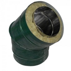 Отвод 45 140/220 н1/о зеленый сэндвич нержавейка 1мм/оцинковка цветная