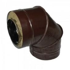 Отвод 90 140/220 н1/о коричневый сэндвич нержавейка 1мм/оцинковка цветная