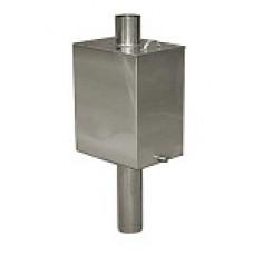 Бак-теплообменник на трубе 55 л термофор из нержавейки(AISI-430) глянец