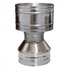 Дефлектор  80/160 нержавеющая сталь глянец