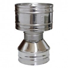 Дефлектор 120/200 нержавеющая сталь глянец