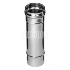Дымоход Феррум ф130 0.25м н0,8 из нержавеющей стали AISI 430/0,8мм