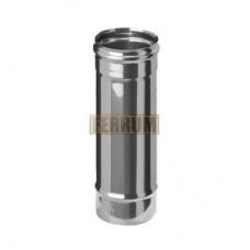 Дымоход Феррум ф130 0,5м н0,8 из нержавеющей стали AISI 430/0,8мм