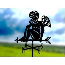 Флюгер «Ангел» стальной черный