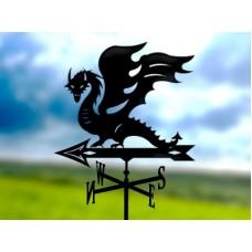 Флюгер «Дракон» стальной черный