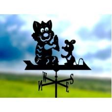 Флюгер «Друзья» стальной черный