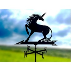 Флюгер «Единорог» стальной черный