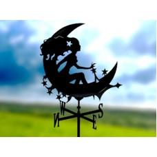 Флюгер «Фея» стальной черный