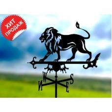 Флюгер «Лев» стальной черный