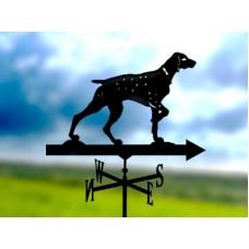 Флюгер «Собака» стальной черный