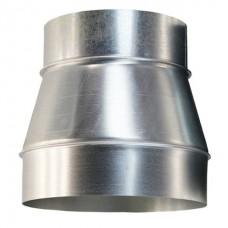 Переход 140/110 н1 из нержавеющей стали 1 мм сварной шов