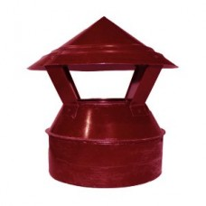 Зонт-оголовок 115/200 красный из оцинкованной стали