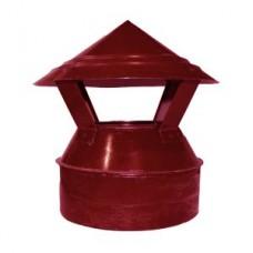 Зонт-оголовок 100/180 красный из оцинкованной стали