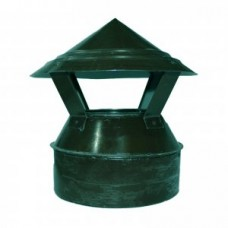Зонт-оголовок 115/200 зеленый из оцинкованной стали