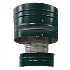 Дефлектор 100/180 зеленая нержавеющая/оцинкованная сталь цветная
