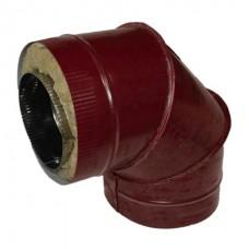 Отвод 90 140/220 н1/о красный сэндвич нержавейка 1мм/оцинковка цветная