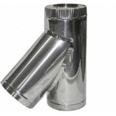 Тройник 110/200 н1/оц 45 1,0/0,5 сэндвич нержавейка 1мм+ оцинкованная сталь