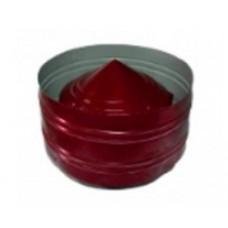 Дефлектор 100/180 красная нержавеющая сталь + оцинкованная сталь цветная