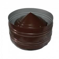 Дефлектор  80/160 коричневая нержавеющая/оцинкованная сталь цветная
