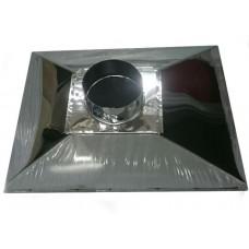 ЗВНК 800х1500х400h купольный зонт вытяжной из нержавеющей стали