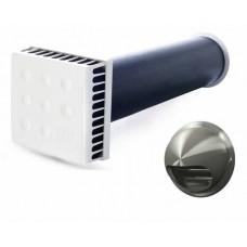 KIV Quadro 125/1000 с выходом из нержавеющей стали приточный клапан 1м