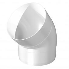 12,5 ККП 45 колено круглое пластиковое ф125