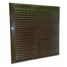 MAXPOL 350x350 бронзовая пластиковая вентиляционная решетка