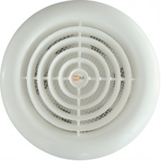 MM 100 круглый белый с ОК осевой вентилятор