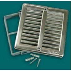 NVM 200 х 200 вентрешетка c сеткой и монтажной рамкой из нержавеющей стали
