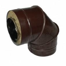 Отвод 90 130/200 н/о коричневый сэндвич нержавейка + оцинкованная сталь цветная