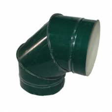 Отвод 90 130/200 н/о зеленый сэндвич нержавейка/оцинковка цветная
