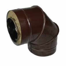 Отвод 90 130/200 н1/о коричневый сэндвич нержавейка 1мм/оцинковка цветная