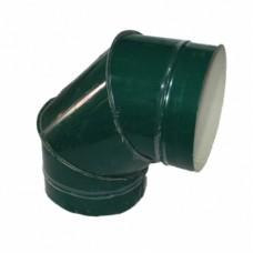 Отвод 90 140/220 н/о зеленый сэндвич нержавейка/оцинковка цветная