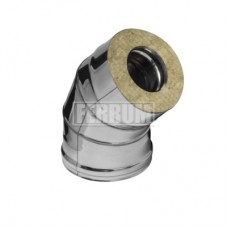 Сэндвич отвод 135 Феррум 115/200 0,8/0,5 Нержавеющая сталь AISI 430