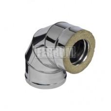 Сэндвич отвод 90 Феррум 130/200 Нержавеющая сталь AISI 430 0,5/0,5