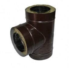 Тройник 150/220 о/о коричневый оцинкованная сталь