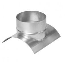 Врезка ф125/100 из оцинкованной стали