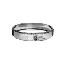 Хомут обжимной ф125 Ferrum 430/0,5мм нержавеющая сталь