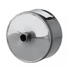 Заглушка d160 с конденсатоотводом из нержавеющей стали 1 мм