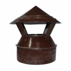 Зонт-оголовок 100/180 коричневый из оцинкованной стали