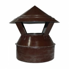 Зонт-оголовок 160/230 коричневый из оцинкованной стали
