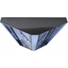 ЗВО 350x1000x2000 островной тип 1 зонт вытяжной из нержавеющей стали 0,7 мм
