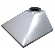 ЗВОК 500х 600х400 купольный без шины зонт вытяжной из оцинкованной стали